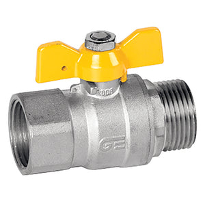 T Handle Gas Ball Valve Thread BSPP G 1""