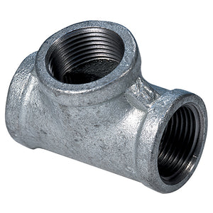 Galvanised Equal Female Tee, BSPP 1/2""