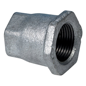 "Galvanised Reducing female Socket, BSPP G1"" X G1/2"""