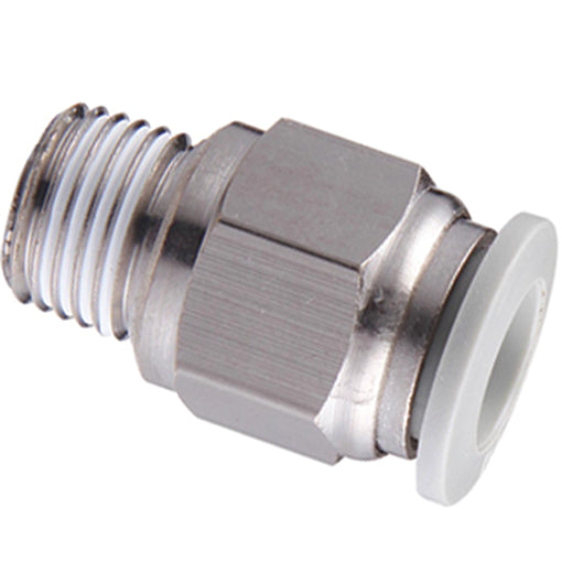 "Male Stud Thread BSPT R1/4"" X 12mm Tube"