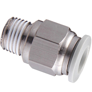 "Male Stud Thread BSPT R/4"" X 6mm Tube"