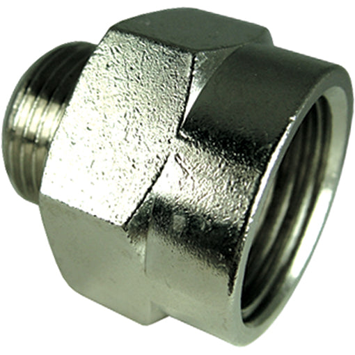 "Male X Female Nickel Plated Tapered Adaptor R1/2"" G1"""