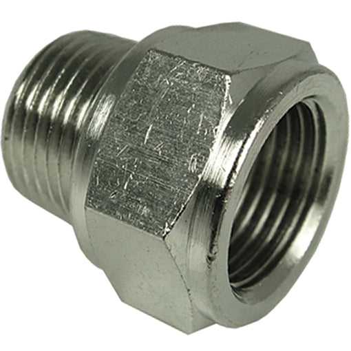 "Male X Female Nickel Plated Tapered Adaptor R3/8"" G1/2"""