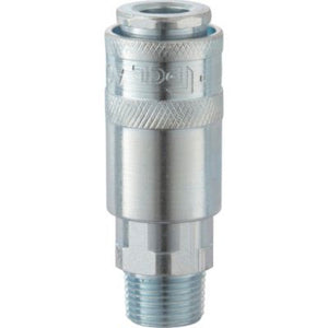 "PCL AC21CM AIRFLOW MALE COUPLING SOCKET ¼"" BSP TAPER MALE THREAD"