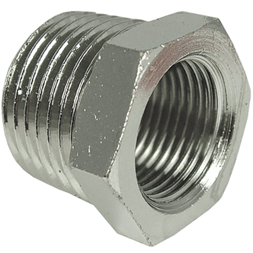 "Tapered Reducing Bush Thread BSPT R3/8"" to R1/8"" CODE: TRB3818"