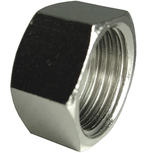 "Nickel Plated Blanking Cap Thread G1"" CODE: NPBC1"