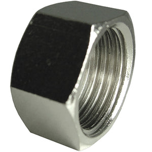 "Nickel Plated Blanking Cap Thread G1/2"" CODE: NPBC12"