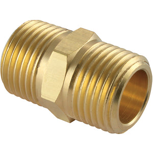 Brass Male Equal Adaptor Thread BSPT R3/8""
