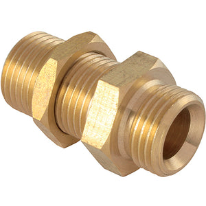 Brass Bulkhead Connector Male G1/4""