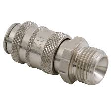 "Coupling Body Male Thread BSP G1/8"", Hex 11mm, Length 28mm CODE: QRC2018M"