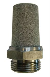 "Sintered Silencer - Stainless Steel, Thread BSPP G1/8"" CODE: 1SSE"