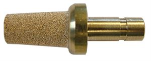 Push-in Sintered Silencer, Bronze, Thread BSP 6mm CODE: PSS6