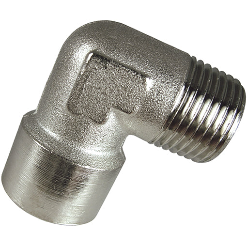 "Nickel Plated Equal Elbow Male X Female Thread BSPP G1/2"" CODE: EMFE12"