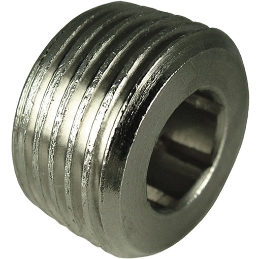 "Nickel Plated Flush Tapered Plug Thread R1/8"" CODE: FPT18"