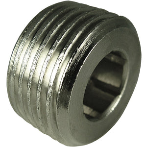 "Nickel Plated Flush Tapered Plug Thread R1/2"" CODE: FPT12"