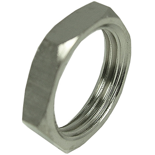 Nickel Plated Lock Nut Thread BSPP G1/2""