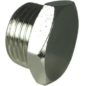 "Nickel Plated Hex Parallel Plug Thread G1"" CODE: HPP1"