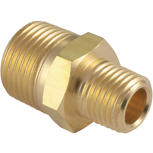 "Brass Male Unequal Adaptor Thread BSPT R1/8"" x BSPT R1/4"""