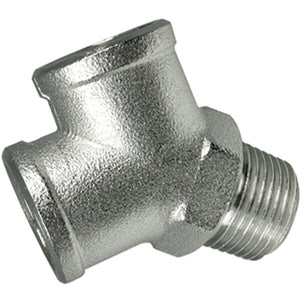 "Nickel Plated 'Y' Connector Male Inlet Thread BSPP G1/8"" CODE: YMF18"
