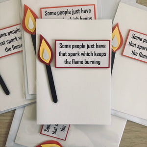"""Some People just have that Spark"" Greeting Card"