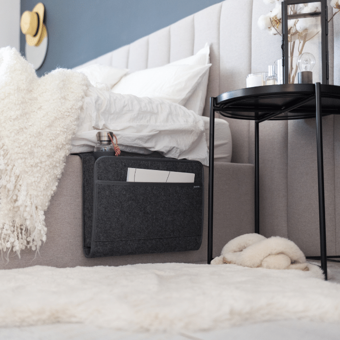 Beddy XL bed caddy on a bed