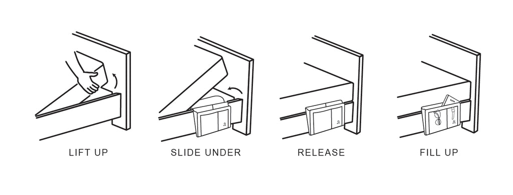 bedside caddy installation instruction