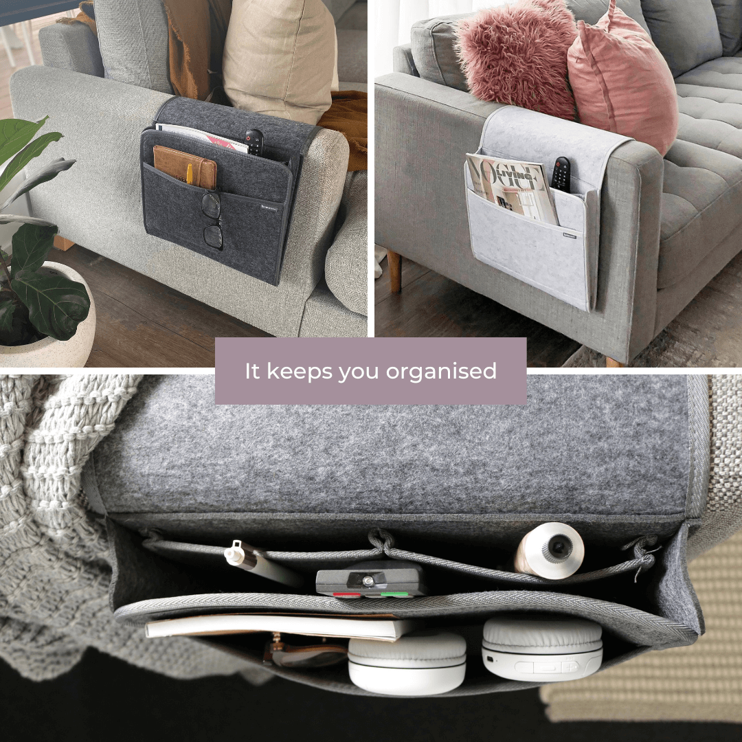 Couchy lounge organiser collage