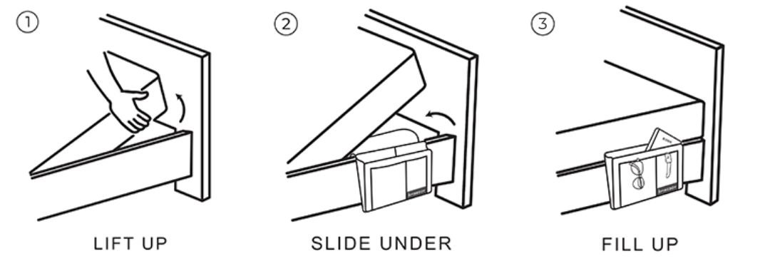 How to install a beddy organiser