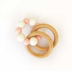 Organic safe rattle baby teether teething gums Dubai UAE
