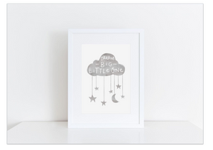 Print frame for nursery baby Dubai UAE Grey