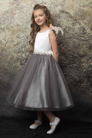 communion dresses Abigail Dress Gray vendor-unknown flower girl dresses