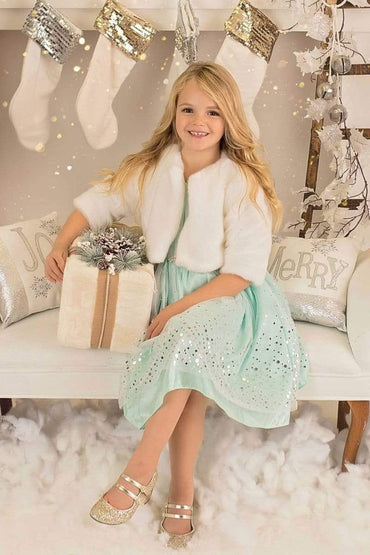 communion dresses Adele Jacket-Ivory vendor-unknown flower girl dresses