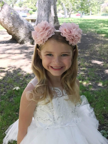 communion dresses Adorable Chiffon flower Handmade Headband vendor-unknown flower girl dresses