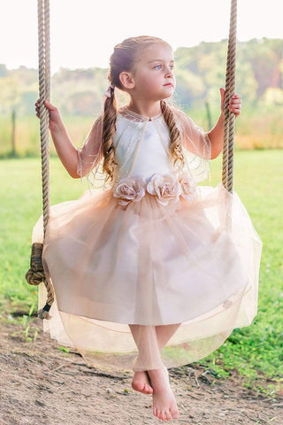communion dresses Allison Dress Blush Petite Adele flower girl dresses