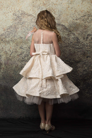 communion dresses Athena Dress Champagne Petite Adele flower girl dresses