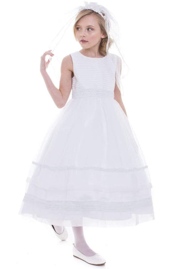 communion dresses Brea Dress White vendor-unknown flower girl dresses