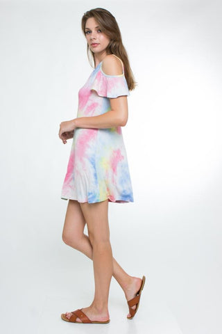 communion dresses Chic cold shoulder dress. vendor-unknown flower girl dresses