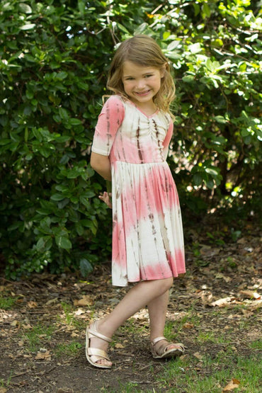 communion dresses Cute crisscross T-shirt dress vendor-unknown flower girl dresses