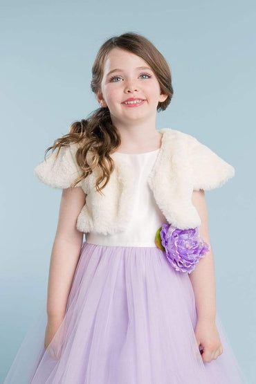 communion dresses Diane Shrug Bolero-Ivory vendor-unknown flower girl dresses