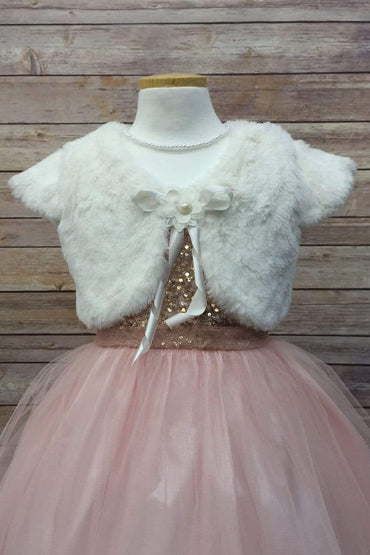 communion dresses Diane Shrug Bolero-Off white vendor-unknown flower girl dresses