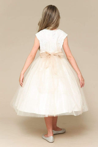 communion dresses Dream  Dress champagne Petite Adele flower girl dresses