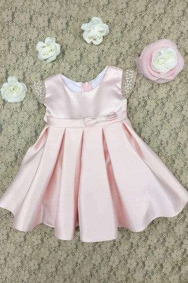 communion dresses Elsie's Baby Dress-Pink vendor-unknown flower girl dresses
