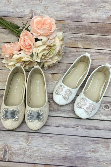 communion dresses Flower Girl Shoes with Satin Belt & Rhinestone vendor-unknown flower girl dresses
