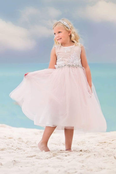 communion dresses Janet Dress Blush vendor-unknown flower girl dresses