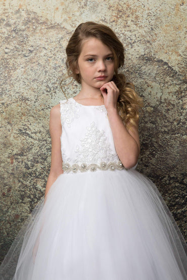 communion dresses Janet Dress White vendor-unknown flower girl dresses
