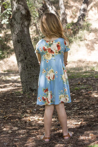 communion dresses Kids Floral Short Dress vendor-unknown flower girl dresses