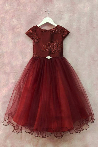 communion dresses Melanie Dress W/ Brooch PETITE ADELE flower girl dresses
