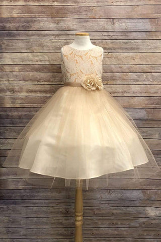communion dresses Nichole Dress Orange Petite Adele flower girl dresses
