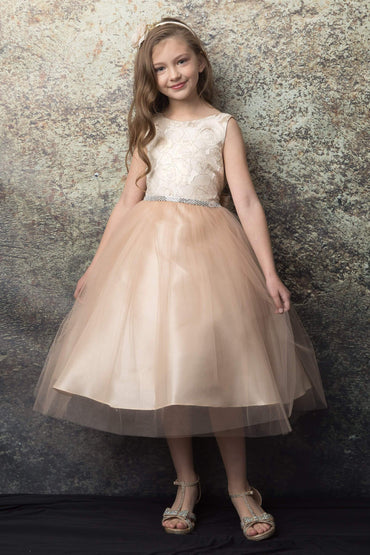 communion dresses Normani Dress Champagne Petite Adele flower girl dresses