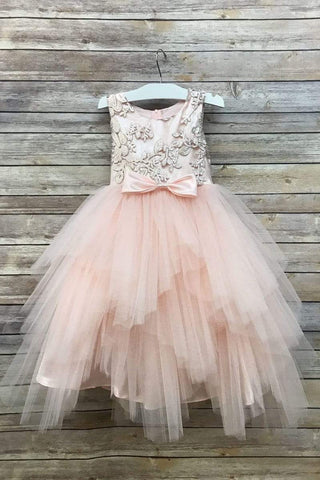 communion dresses Peyton Dress Blush vendor-unknown flower girl dresses